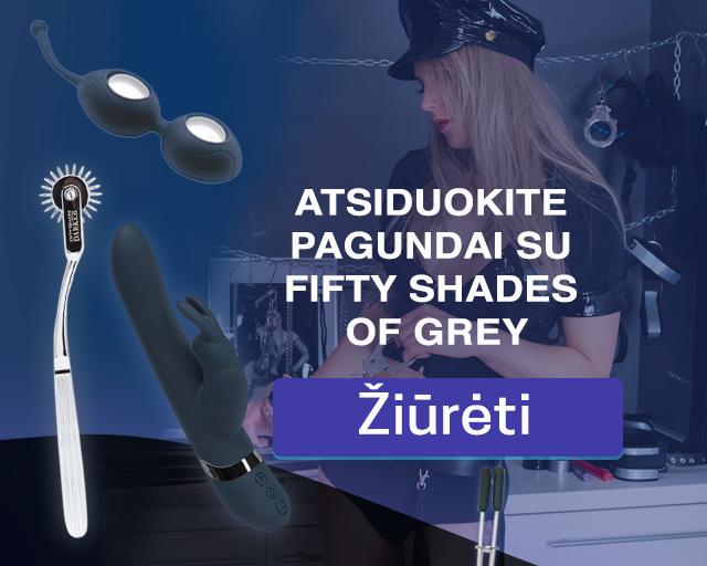 Atsiduokite pagundai su Fifty Shades of Grey sekso žaislų kolekcija!