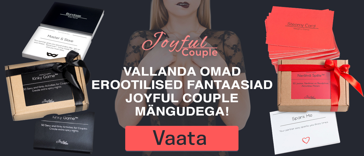 Vallanda omad erootilised fantaasiad Joyful Couple mängudega!