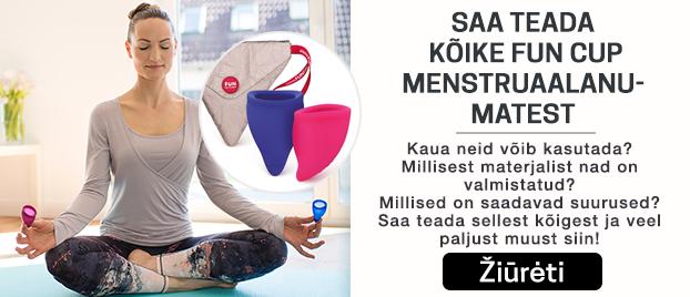 Saa teada kõike Fun Cup menstruaalanu-matest  Kaua neid võib kasutada?  Millisest materjalist nad on valmistatud? Millised on saadavad suurused?  Saa teada sellest kõigest ja veel  paljust muust siin!