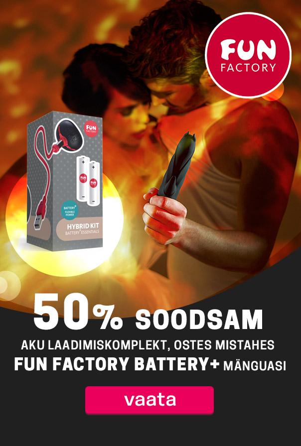 Kõigil Fun Factory Battery + mänguasjadel eriti atraktiivne hind Naudi kauakestvamat stimulatsiooni Fun Factory'iga!