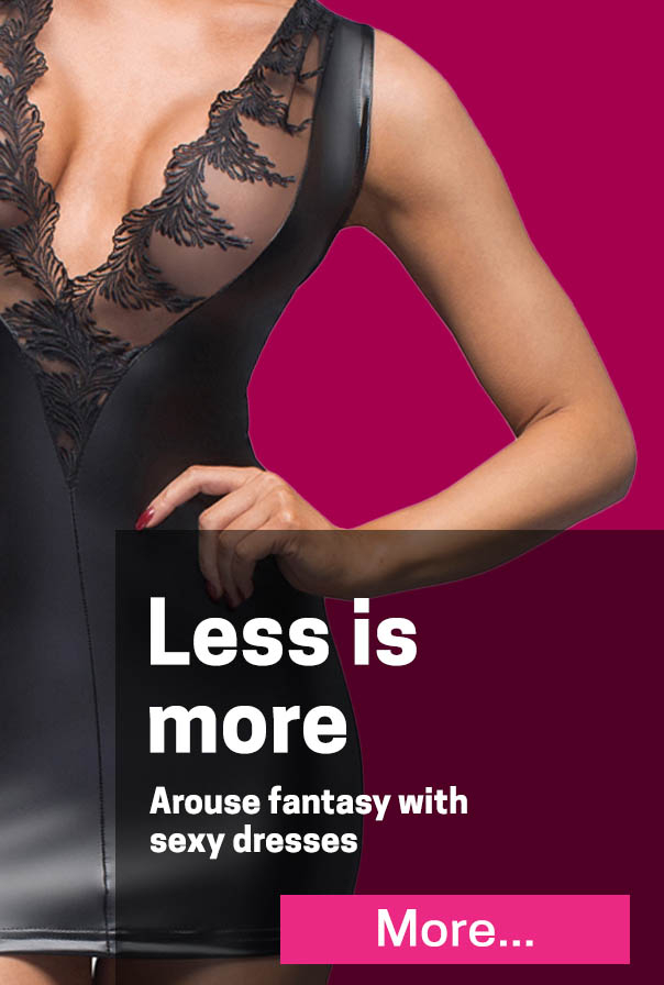 Less is more! Arouse fantasy with net dresses