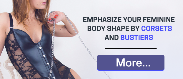 Emphasize your feminine body shape by corsets and corset undershirts