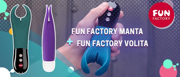 """Įsigykite """"Fun Factory Manta"""" ir gaukite """"Fun Factory Volita"""" kaip dovaną"""