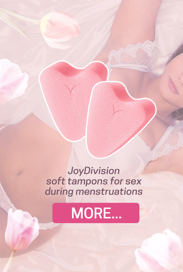 JoyDivision  soft tampons for sex during menstruations