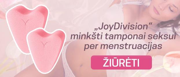 """JoyDivision""  minkšti tamponai seksui per menstruacijas"
