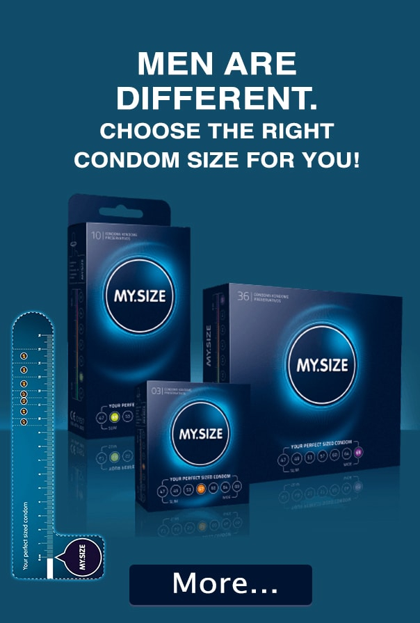 MEN ARE DIFFERENT. CHOOSE THE RIGHT CONDOM SIZE FOR YOU!