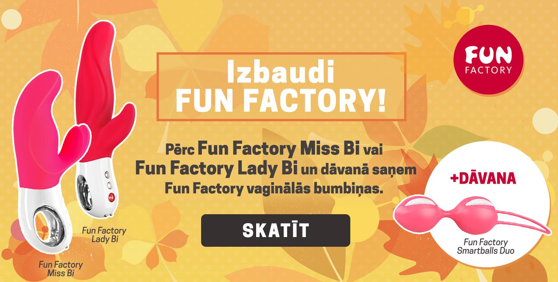 Izbaudi Fun Factory! Pērc Fun Factory Miss Bi vai Fun Factory Lady Bi un dāvanā saņem   Fun Factory vaginālās bumbiņas.