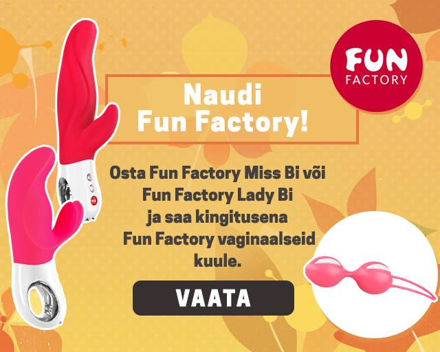 Naudi Fun Factory! Osta Fun Factory Miss Bi või Fun Factory Lady Bi ja saa kingitusena Fun Factory vaginaalseid kuule.