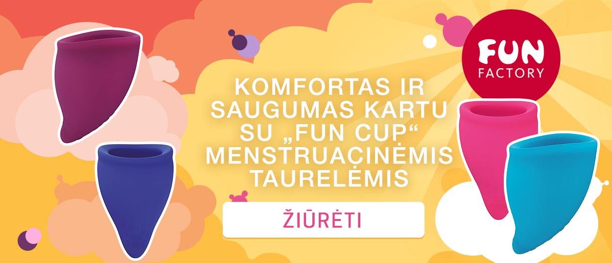 """Komfortas ir saugumas kartu su """"Fun Cup"""" menstruacinėmis taurelėmis"""