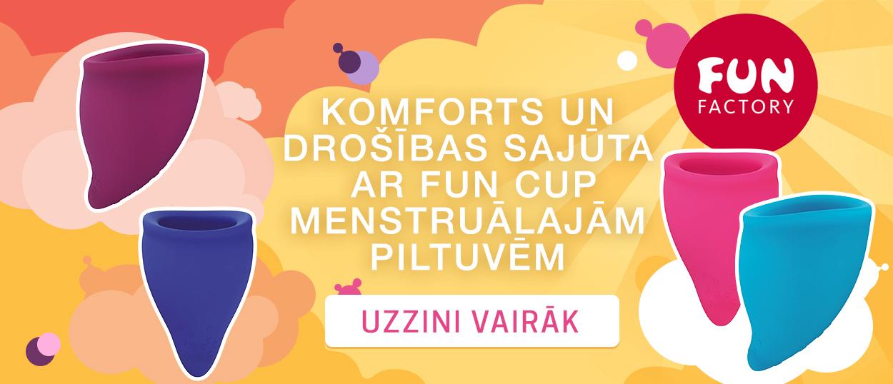 Komforts un drošības sajūta ar Fun Cup menstruālajām piltuvēm