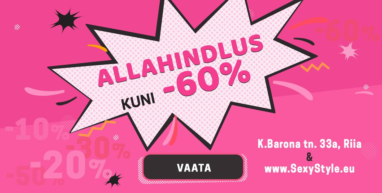 Allahindlus kuni -60%