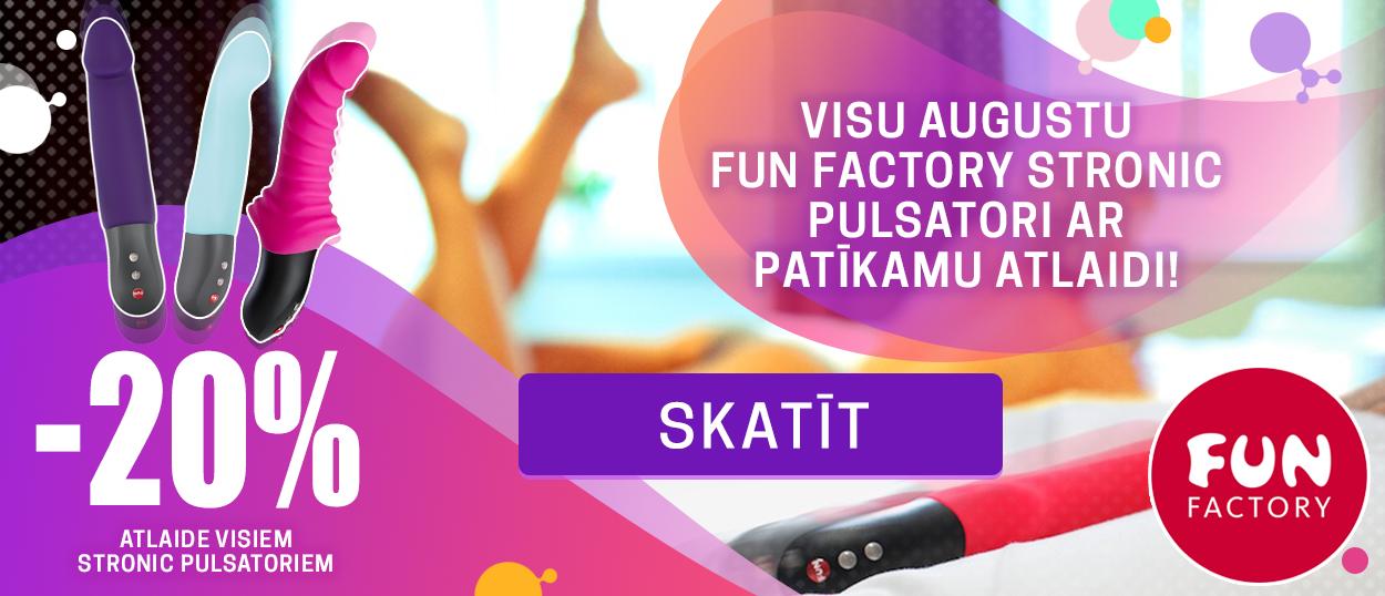 Visu augustu Fun Factory Stronic pulsatori ar patīkamu atlaidi! 20% atlaide