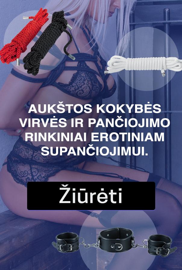 Aukštos kokybės virvės ir pančiojimo rinkiniai erotiniam supančiojimui