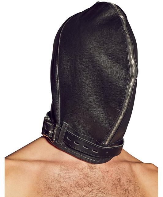 Zado dubultā ādas maska ar rāvējslēdzēju