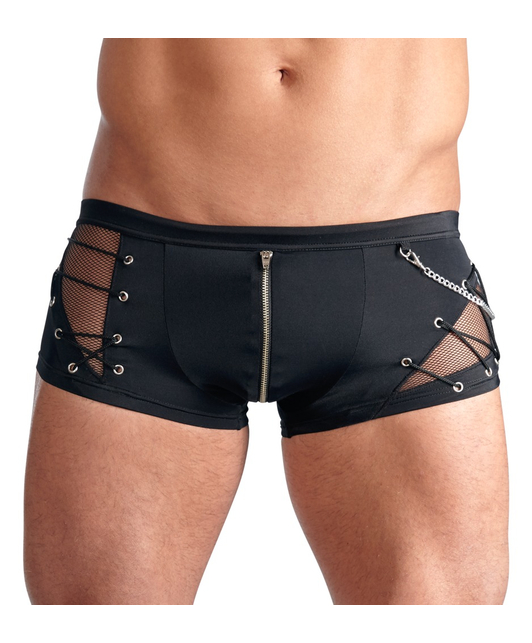 Svenjoyment black trunks with lacing and mesh