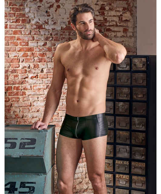 NEK black matte look trunks with zipper