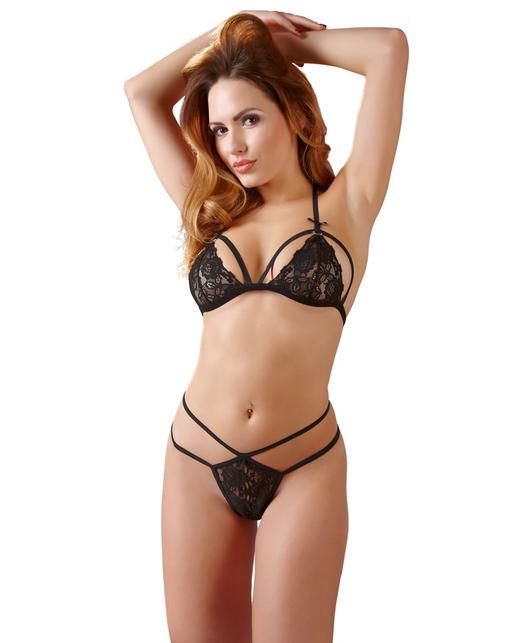 Cottelli Collection black lace lingerie set