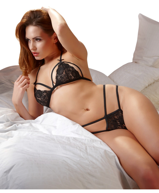 Cottelli Collection black lace lingerie set
