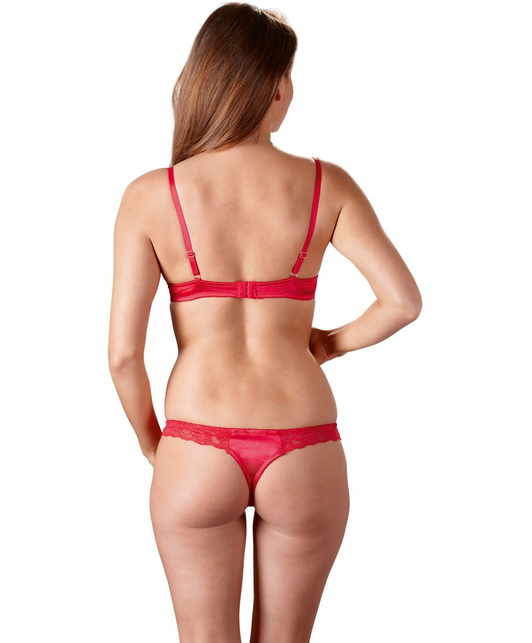 Cottelli Collection red lace lingerie set