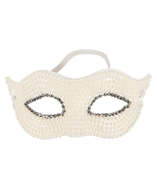 Cottelli Collection mask with white pearls