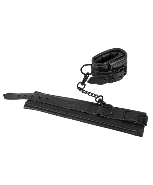 Bad Kitty black faux leather handcuffs