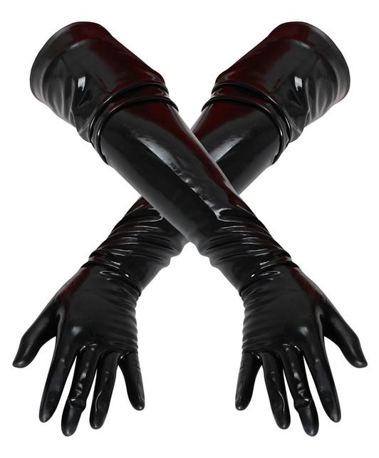 Late X juodos latekso pirštinės