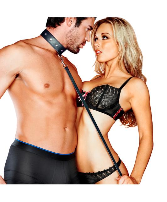 Sportsheets Leather Leash & Collar