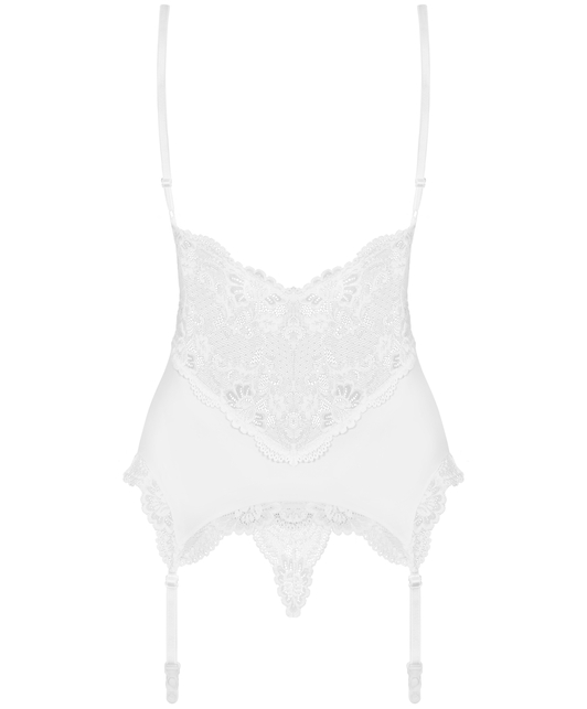 Obsessive white basque with string