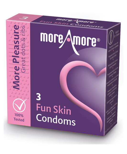 MoreAmore Fun Skin (3 / 12 tk.)