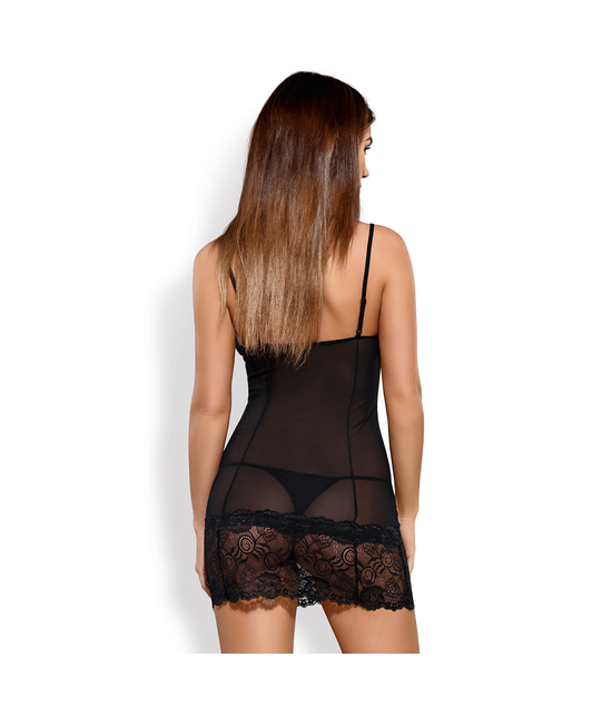 Obsessive black lace chemise