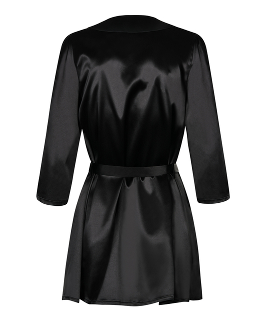 Obsessive black robe with string