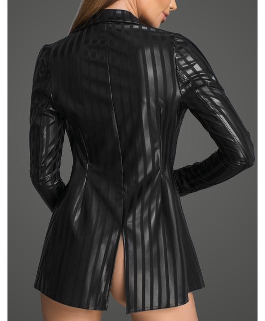 Noir Handmade черный матовый жакет в полоску