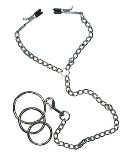 Sextreme Nipple Clamps/Cock Ring/Chain