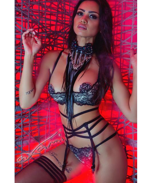 Axami Sexy Tiramisu black garter belt