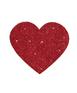 Sarkanas, mirdzošas krūšu uzlīmes sirds formā (2 gab.)