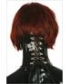 Blackstyle black latex neck corset