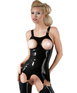 Late X Corset with with suspender and cut-out breats, moulded