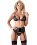 Cottelli Collection Bra set with wet-look lines