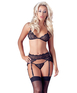 Cottelli Collection black laced set