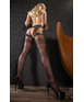 Cottelli Collection black crotchless tights with cut-outs