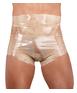 Late X transparent/skin-coloured latex diaper briefs