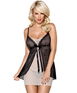 Obsessive black babydoll with embroidery