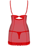 Obsessive red mesh chemise