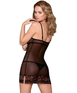 Obsessive black sheer chemise with lace