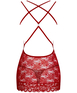 Obsessive red lace open back chemise
