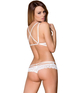 Obsessive white lace two-piece lingerie set