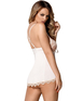 Obsessive white babydoll with beige lace
