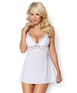 Obsessive white babydoll with padded cups