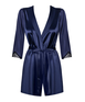 Obsessive navy blue robe with string