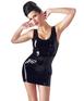 Late X черное платье мини из латекса